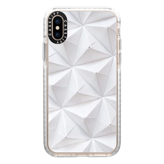 iPhone XS Cases - Origami in White by Coco Sato