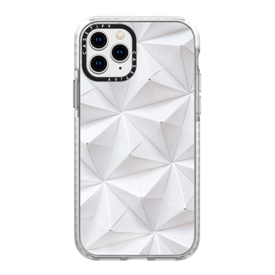 iPhone 11 Pro Cases - Origami in White by Coco Sato