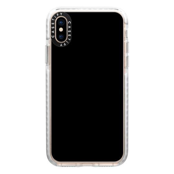 iPhone XS Cases - SOLIDS: Black