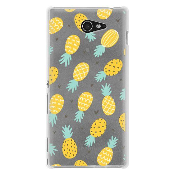 Sony M2 Cases - Pineapple Love