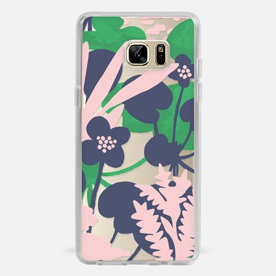 Galaxy Note 7 Case - Wetland flowers transparent