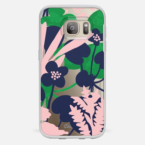 Galaxy S7 Hülle - Wetland flowers transparent