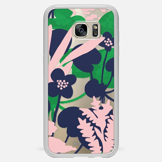 Galaxy S7 Edge Case - Wetland flowers transparent