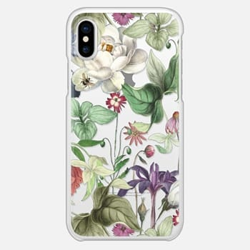 iPhone X Case MOTELS BOTANICAL PRINT - TRANSPARENT