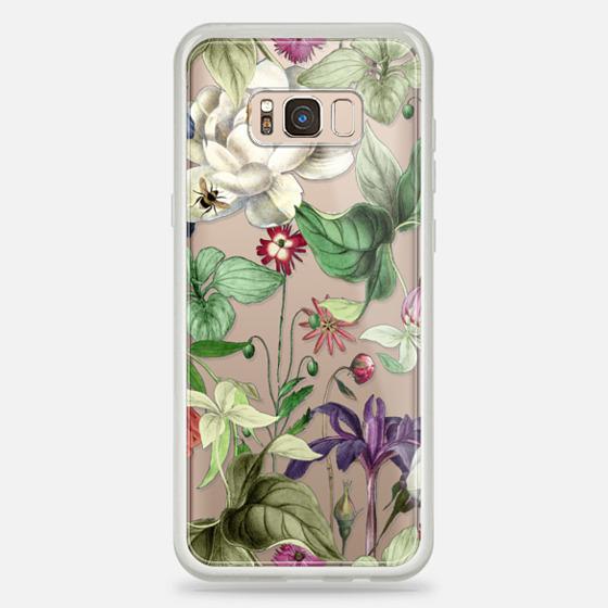 Galaxy S8+ Case - MOTELS BOTANICAL PRINT - TRANSPARENT