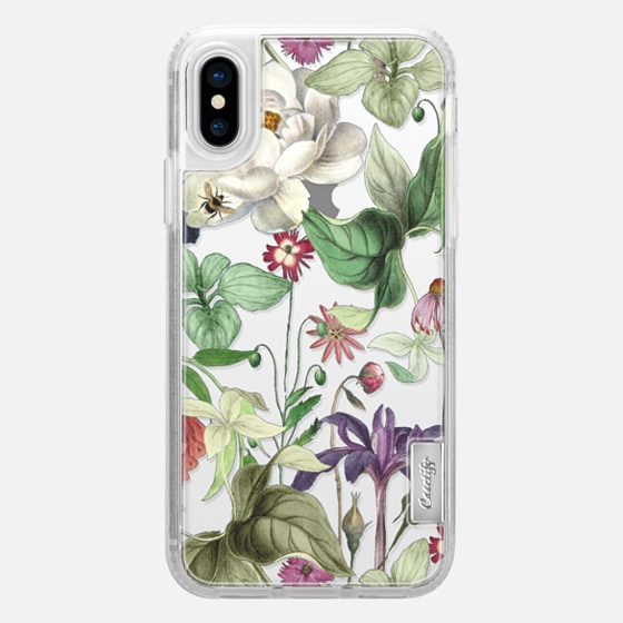 iPhone X Case - MOTELS BOTANICAL PRINT - TRANSPARENT