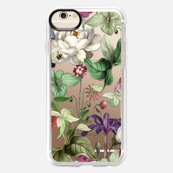 iPhone 6 Case - MOTELS BOTANICAL PRINT - TRANSPARENT
