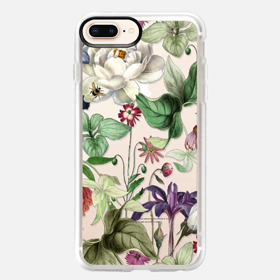 iPhone 8 Plus Case - MOTELS BOTANICAL PRINT - TRANSPARENT