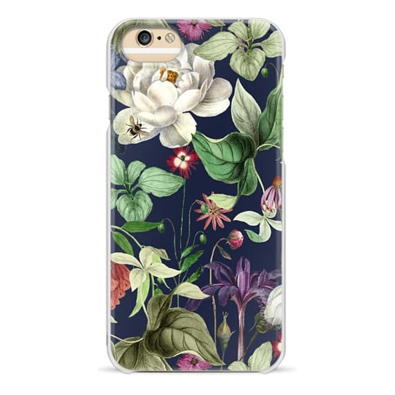 iPhone 6 Cases - MOTELS BOTANICAL NAVY PRINT - SOLID