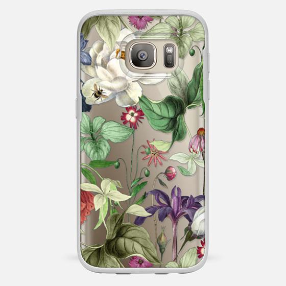 Galaxy S7 保護殼 - MOTELS BOTANICAL PRINT - TRANSPARENT