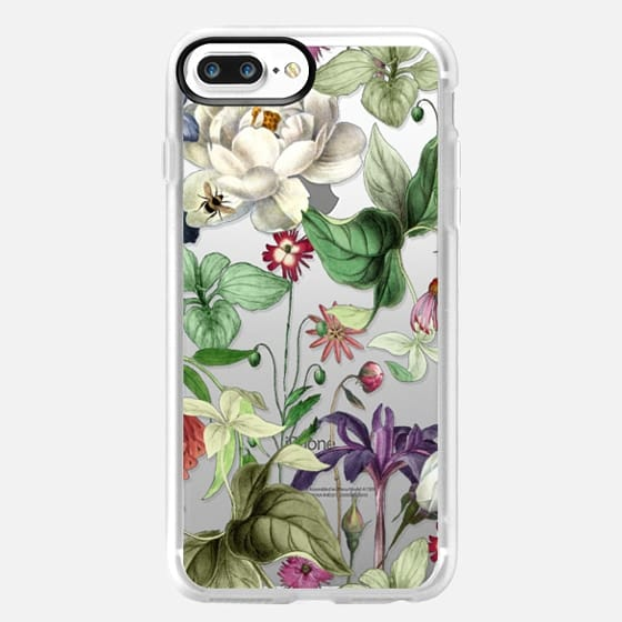 iPhone 7 Plus Case - MOTELS BOTANICAL PRINT - TRANSPARENT