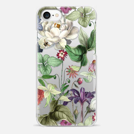 iPhone 7 Case - MOTELS BOTANICAL PRINT - TRANSPARENT