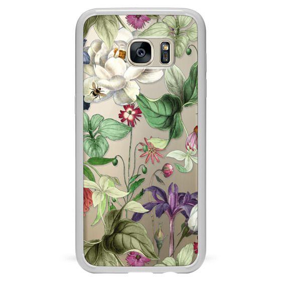 Galaxy S7 Edge Case - MOTELS BOTANICAL PRINT - TRANSPARENT