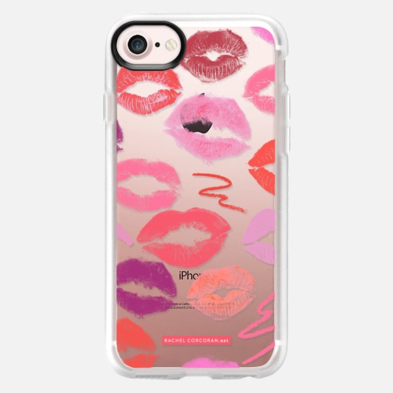Lipstick Kisses MakeUp MUA Cosmetics Love Romantic Kiss Lips Pink Red Fashion Rachillustrates Rachel Corcoran - Wallet Case