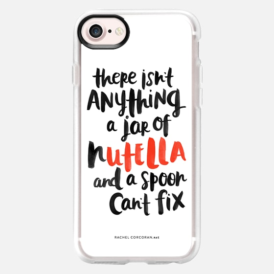 Nutella Hand Lettered Inspirational Quote Typography Funny Food Chocolate Candy Rachel Corcoran Rachillustrates - Wallet Case