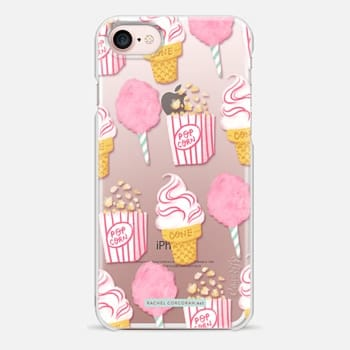 iPhone 7 Case Cute Summer Ice Cream Popcorn Candy Floss Vintage Fairground Pattern Rachillustrates Rachel Corcoran