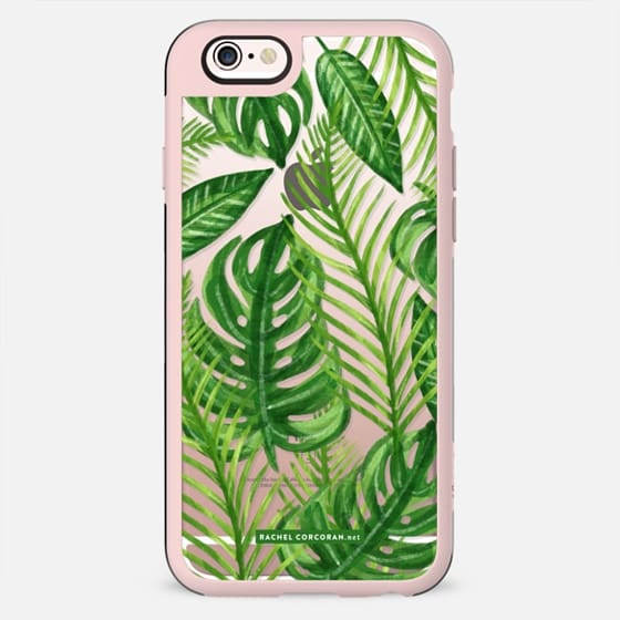 Tropical Palm Leaves Pattern Exotic Wild Festival Green Nature Floral by Rachel Corcoran Rachillustrates - New Standard Case