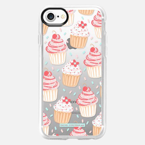 Cupcakes Cake Candy Sweet Cherry Baking Food Dessert Confetti Cute Pink Red Pattern Rachillustrates Rachel Corcoran   -