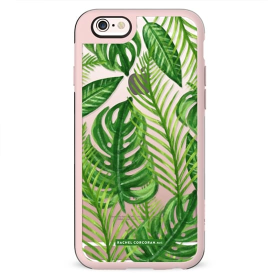 Tropical Palm Leaves Pattern Exotic Wild Festival Green Nature Floral by Rachel Corcoran Rachillustrates