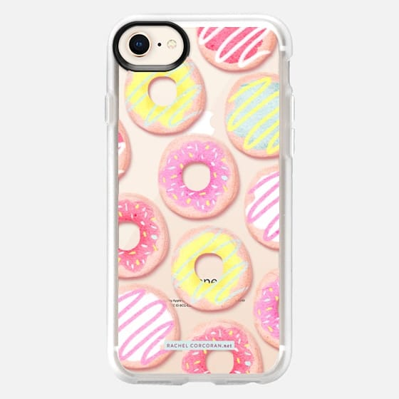 Donuts Pattern Sweets Cute Candy Food Dessert Rachillustrates Rachel Corcoran  - Snap Case