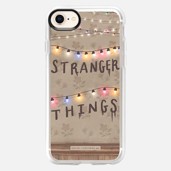 Stranger Things Illustration by Rachel Corcoran - Rachillustrates - 1980s Retro TV Show Christmas Holiday Lights - Snap Case