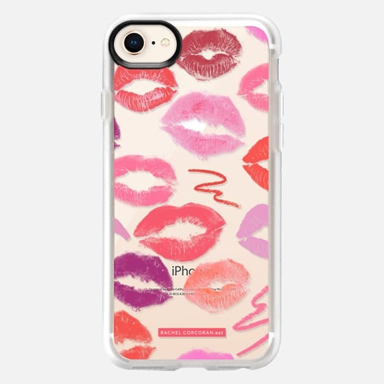 Lipstick Kisses MakeUp MUA Cosmetics Love Romantic Kiss Lips Pink Red Fashion Rachillustrates Rachel Corcoran - Snap Case