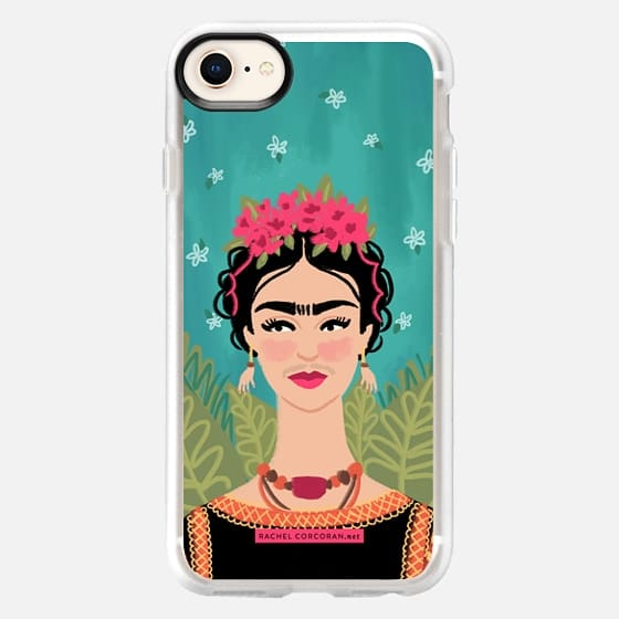 Frida Kahlo Colorful Mexican Folk Fashion Illustration Painting Rachillustrates Rachel Corcoran   - Snap Case