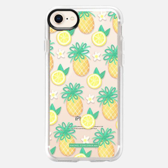 Summer Pineapple Lemonade Hawaii Tropical Fruit Lemon Pattern Rachillustrates Rachel Corcoran - Snap Case