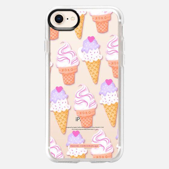 Ice Cream Sundae Sweet Cute Food Candy Pretty Pattern Rachel Corcoran Rachillustrates  - Snap Case