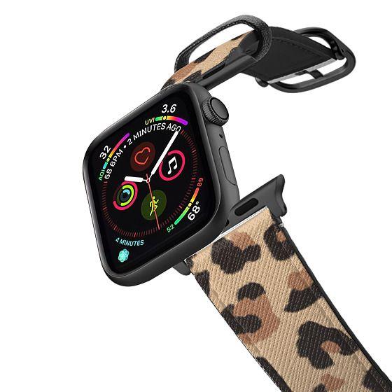 Apple Watch 38mm Bands - Leopard Print Animal Pattern Fashion by Rachel Corcoran Rachillustrates