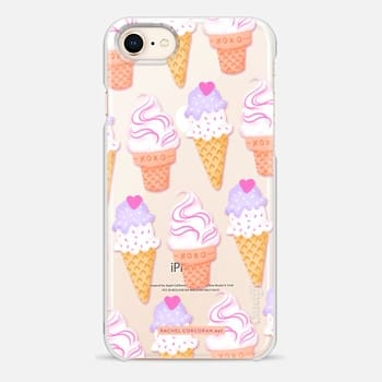 iPhone 8 Case Ice Cream Sundae Sweet Cute Food Candy Pretty Pattern Rachel Corcoran Rachillustrates