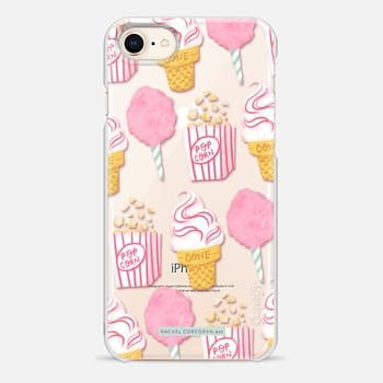 iPhone 8 Case Cute Summer Ice Cream Popcorn Candy Floss Vintage Fairground Pattern Rachillustrates Rachel Corcoran