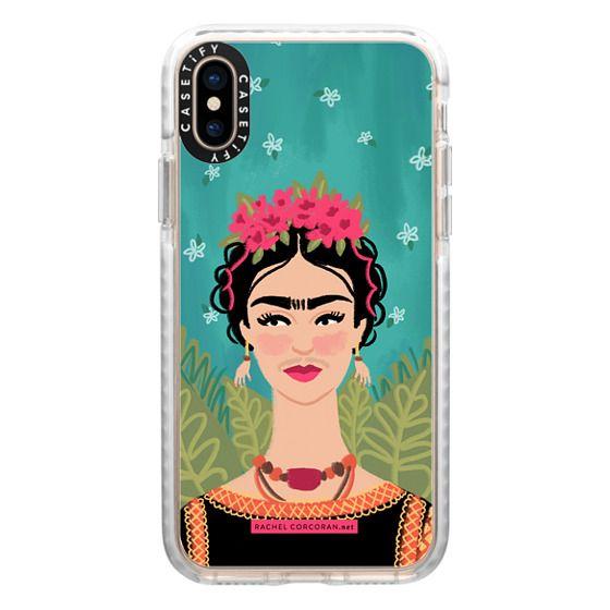 iPhone XS Cases - Frida Kahlo Colorful Mexican Folk Fashion Illustration Painting Rachillustrates Rachel Corcoran