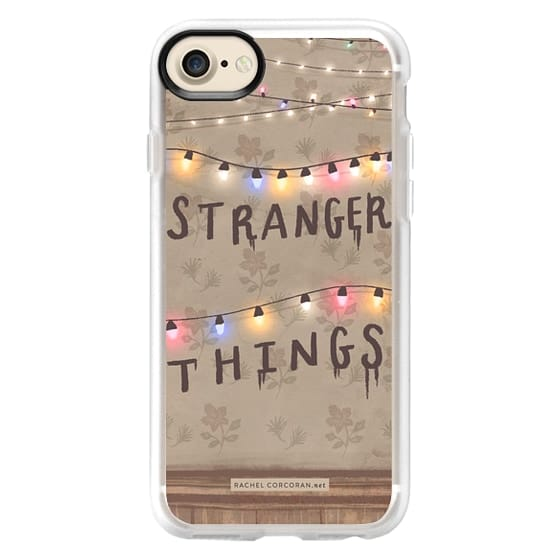 new style 4d80d f7d38 Classic Grip iPhone 7 Case - Stranger Things Illustration by Rachel  Corcoran - Rachillustrates - 1980s Retro TV Show Christmas Holiday Lights