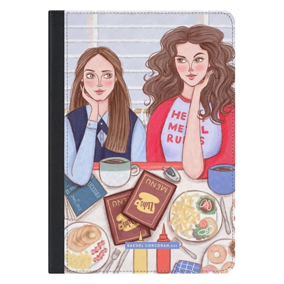 Gilmore Girls in Lukes Diner - TV Show Food Coffee Illustration by Rachel Corcoran - Rachillustrates