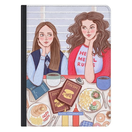 12.9-inch iPad Pro Covers - Gilmore Girls in Lukes Diner - TV Show Food Coffee Illustration by Rachel Corcoran - Rachillustrates