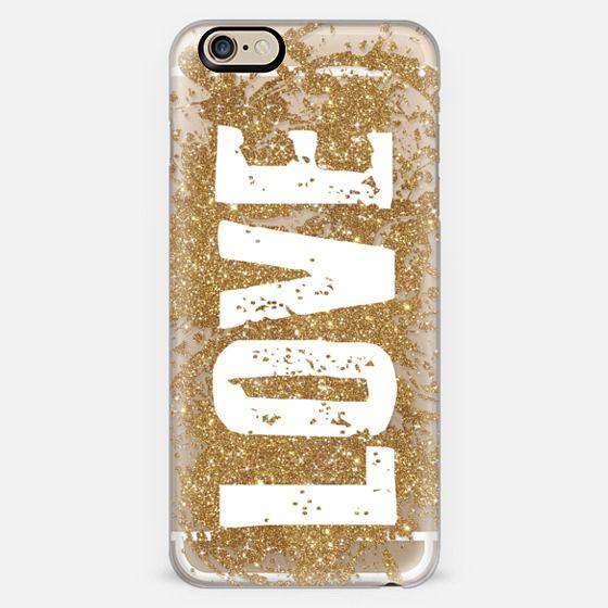 Gold Glitter Love -