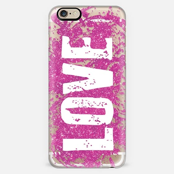 LOVE Pink Glitter -