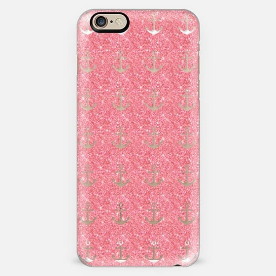 Pink Glitter Anchors -