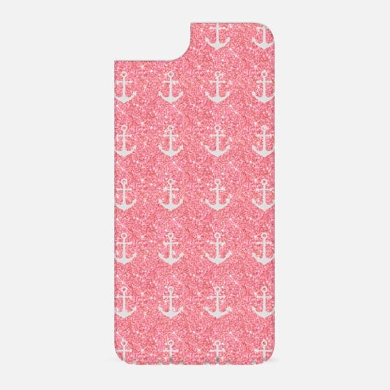 Pink Glitter Anchors - New Standard Backplate