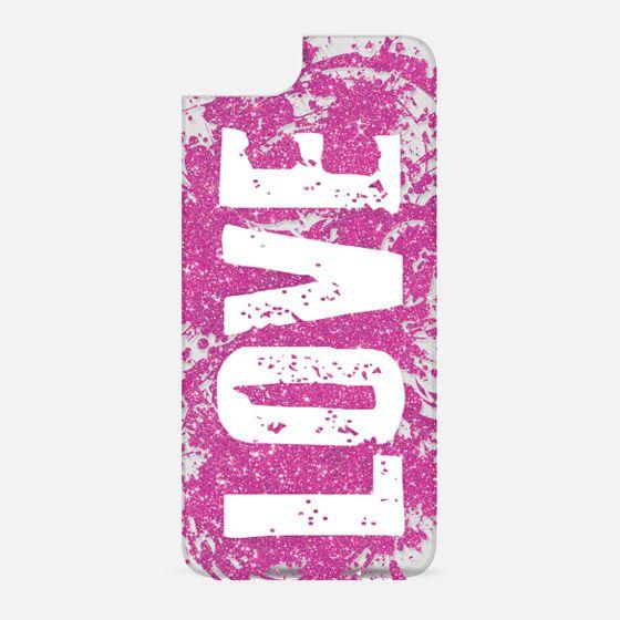 Pink Glitter LOVE - New Standard Backplate