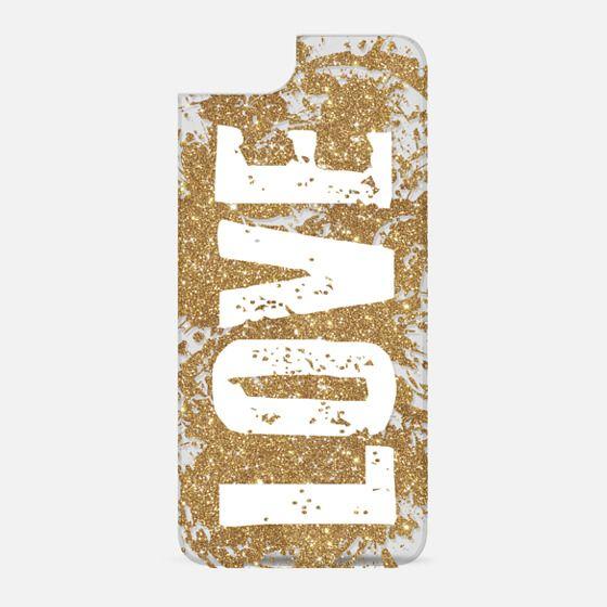 Grunge Glitter Love - New Standard Backplate