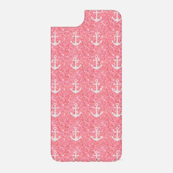 Pink Glitter Anchors - New Standard Backplate
