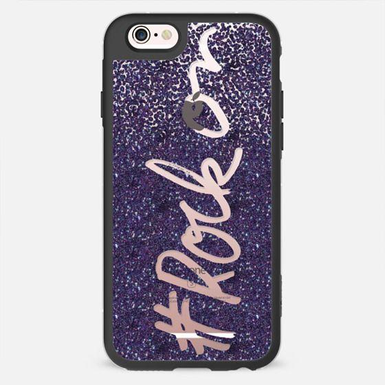 #RockOn in Purple Glitter - New Standard Case