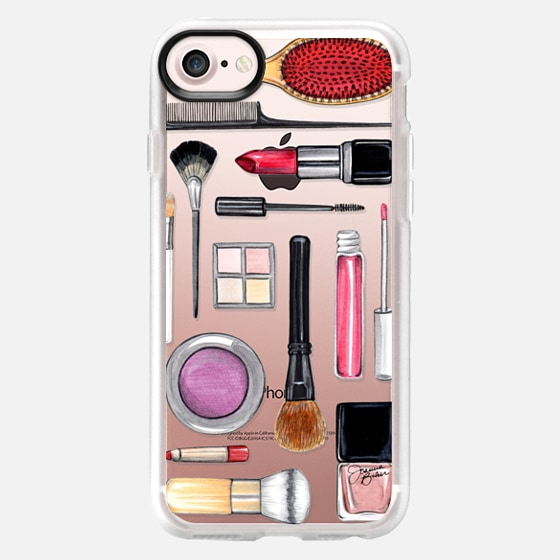 Beauty Editor Fashion Makeup Illustration by Joanna Baker - Classic Grip Case