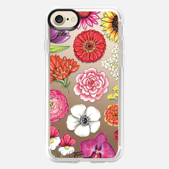 Vibrant Blooms Floral Illustration by Joanna Baker - Classic Grip Case