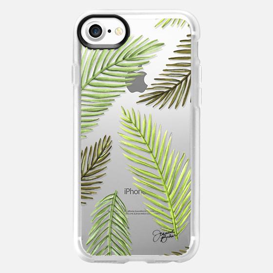 Palm Leaf Pattern Illustration by Joanna Baker - Classic Grip Case