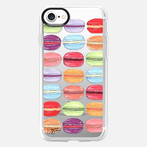 Macaron Day Sweet Treat Illustration by Joanna Baker - Classic Grip Case