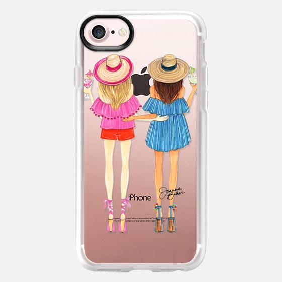 Summertime Happy Hour Besties Fashion Illustration by Joanna Baker - Classic Grip Case