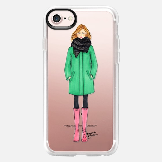 Winter Uniform Fashion Illustration by Joanna Baker - Classic Grip Case